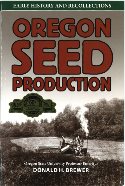 Book cover black and white photo of old seed harvesting equipment