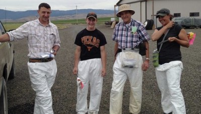 Four certification agents ready to inspect potatoes
